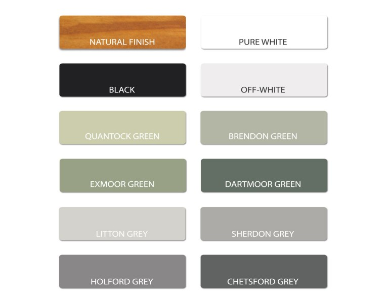 Painted Timber Sample - Various Options