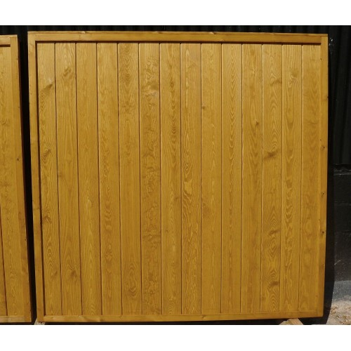 solid boarded fence panels natural finish