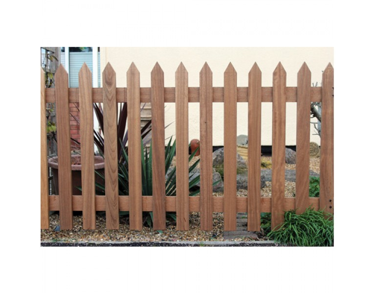 Picket Fence Panel - Natural Finish