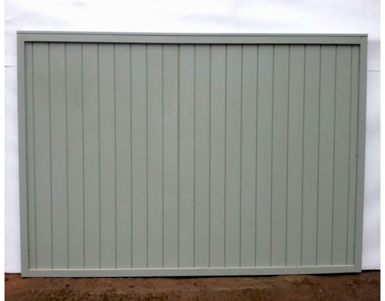 Solid Boarded Fence Panels - Painted Finish