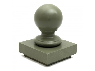 Ball Finial & Post Cap - Painted Finish Photo