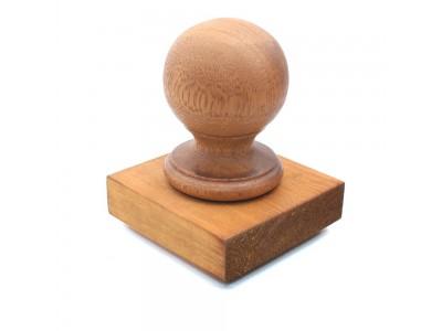 Ball Finial & Post Cap - Natural Finish Photo