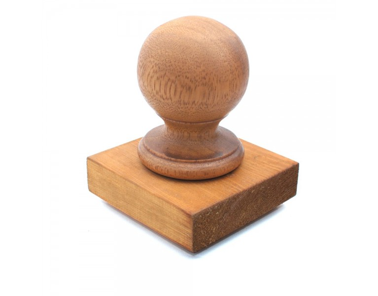 Ball Finial & Post Cap - Natural Finish