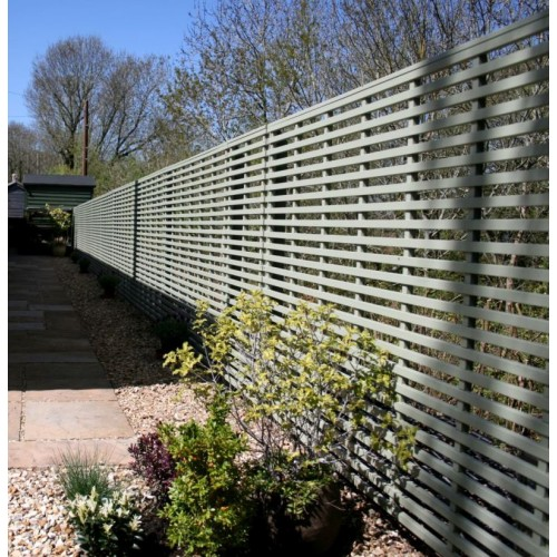 Garden screening panel 25mm gap painted finish for Horizontal garden screening