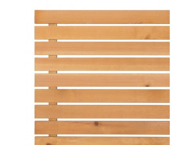 Slatted Screening Panel (7mm Gap) - Natural Finish Photo