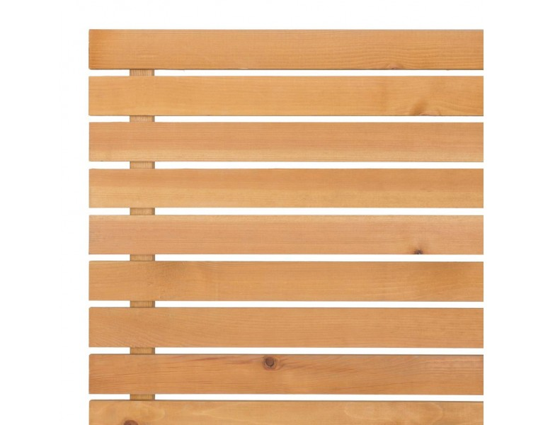Slatted Screening Panel (7mm Gap) - Natural Finish