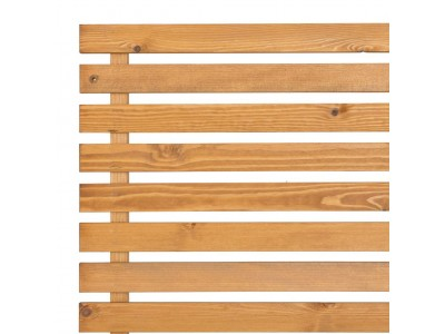 Slatted Screening Panel (15mm Gap) - Natural Finish Photo