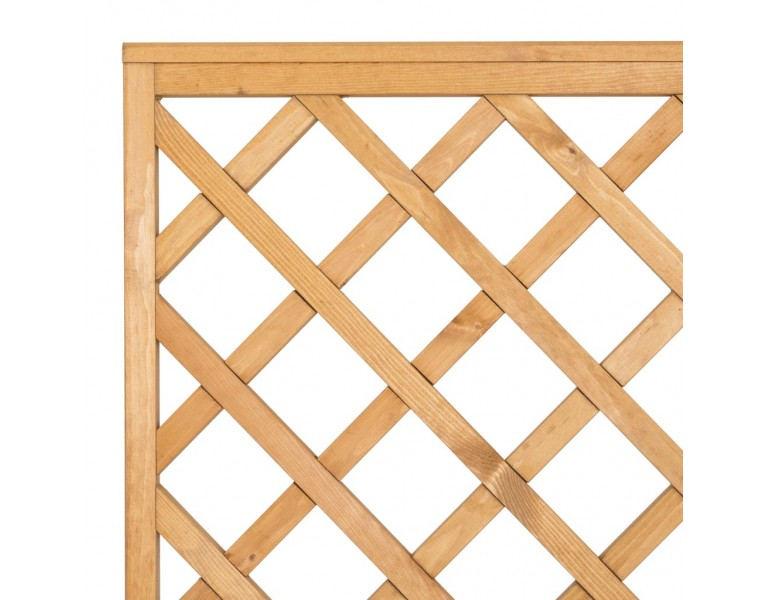 Diamond Trellis Panels - Natural Finish