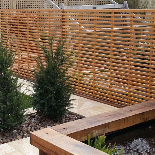 garden screening slatted panels screening panel